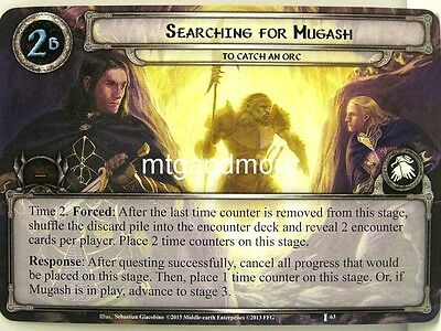 Lord of the Rings LCG  - 1x Searching for Mugash  #063 - The Voice of Isengard