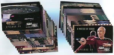 STAR TREK: THE NEXT GENERATION 1995 Season 2 Card LOT!! NM/M 107 Cards Skybox #1