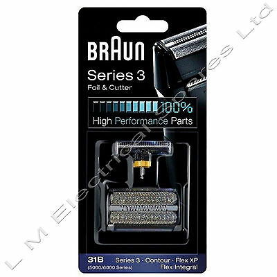 Braun 31B 5000/6000 Series 3 Replacement Shaver Foil & Cutter Cassette