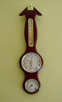 Small Traditional Banjo Weather Station Barometer Thermometer Hygrometer Boxed