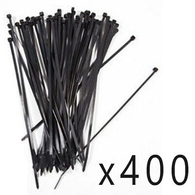 """400 Pack Lot Pcs - 14"""" Inch UV Resistant Nylon Cable Zip Wire Tie 50 lbs - Black"""