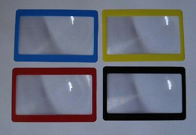 Credit Card Size Fresnel Lens Magnifier Reading Glass with Frame
