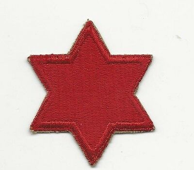 US ARMY PATCH - 6TH INFANTRY DIVISION - ORIGINAL WWII ERA