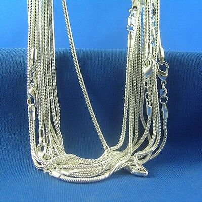 Wholesale lots 5pcs 925 Sterling Silver Snake Chain Necklace 16-30 inch