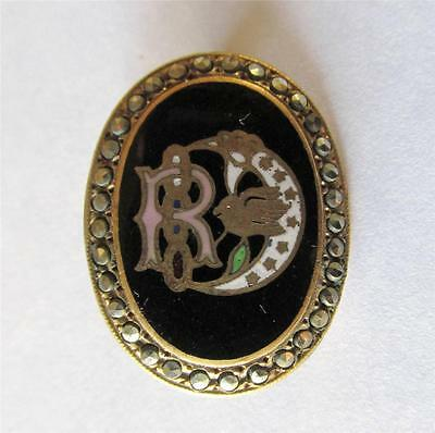 Vintage Old Antique Odd Fellows Lapel Pin DAUGHTERS OF REBEKAH IOOF