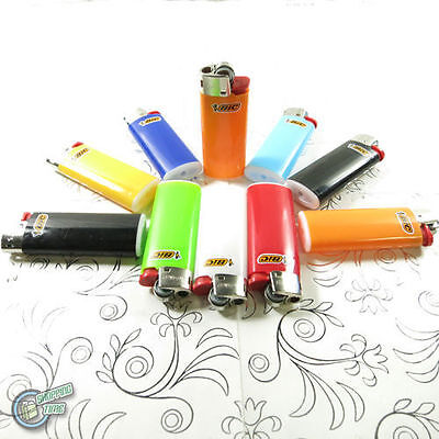10 Bic Child Guard Cigarette Tobacco Lighter Mini Small J25 Cigar Made In France