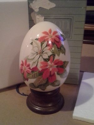 Avon Vintage 1987 Gifts Of Nature Porcelain Egg Collection Winter's Treasure-New
