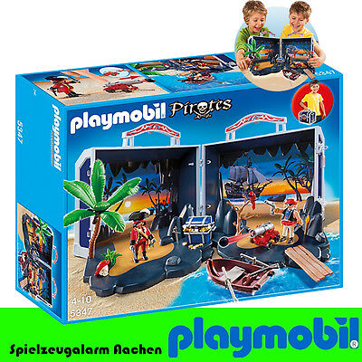PLAYMOBIL 5347 Pirates Piratenschatzkoffer Pirates Box Case Bag To Go