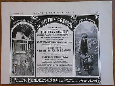 1906 vintage AD Henderson's Catalogue Everything for the Garden
