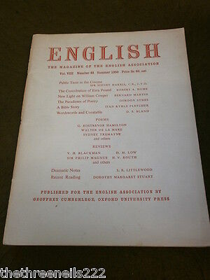English Association - Summer 1950 Vol 8 # 44 - Erza Pound