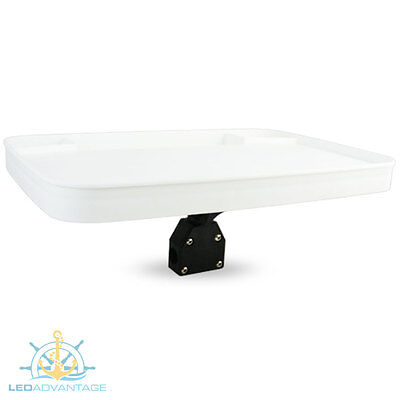 Deluxe 515Mm X 355Mm Bow Rail Mount Boat Bait Fishing Cutting Board Waste Trays