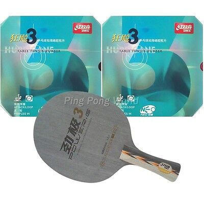 Pro Combo Table Tennis Racket, DHS POWER.G3 blade with NEO Hurricane3 Rubbers