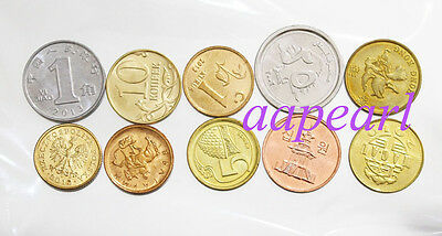 10 countries Different coins Collections. real coins money rare  Collections