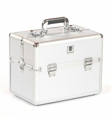 dog cat pet grooming tool tools storage tack box show travel case bag silver