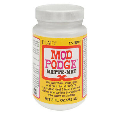 8oz MOD PODGE MATTE MATT FINISH GLUE SEALER DECOUPAGE CRAFT VARNISH WATER BASED