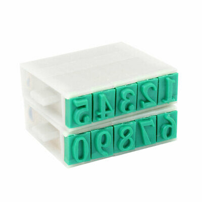 Office   Plastic Rubber 0-9 Digits Combination Number Stamp 13mm Wide