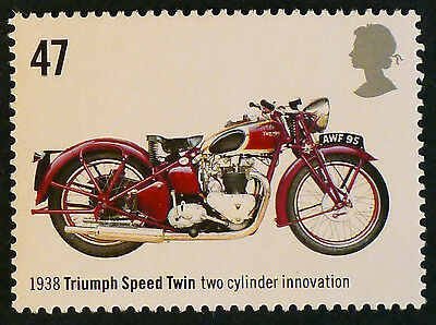 Triumph Speed Twin (1938) Motorcycle on 2005 Stamp - Unmounted Mint