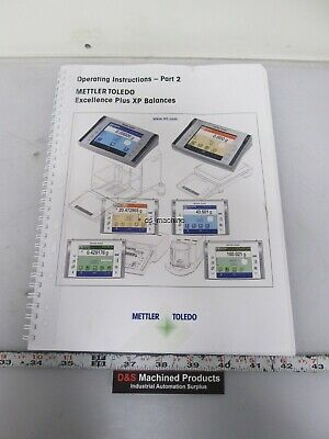Mettler Toledo 11781077 Excellence Plus XP Balance Operating Instructions Part 2