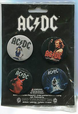 AC/DC 2005 Button Set!!! 4 Buttons Unopened