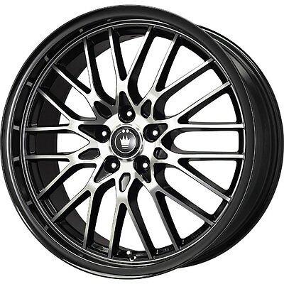 1 New 16x7 40 Offset 5x1105x115 Konig Lace Black Wheelrim 16 Inch