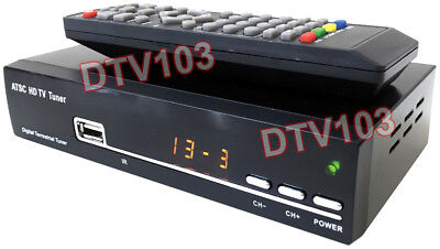 Digital HD ATSC TV Tuner For Air Antenna TV Channels W/IR Remote 1080p