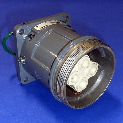 T&b Russell Stoll 60A 250V / 600Vac Pin & Sleeve Receptacle 8454