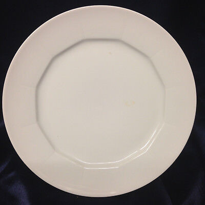 Mitterteich All White Dinner Plate MIT43 Paneled Embossed