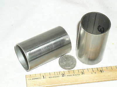 "2 Welded 316 Stainless Steel Tubing 1-1/2"" Od Cut In 2-1/2 Inch Lengths Wall.065"