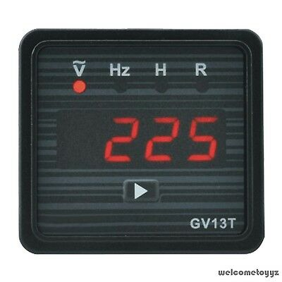 4 DIGITS RED LED DISPLAY AC V, Hz, ACCUMULATING TIME WORKING TIME PANEL METER