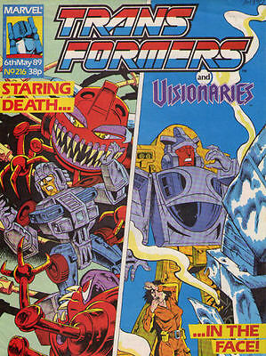TRANSFORMERS #216 - 1989 - Marvel Comics Group UK