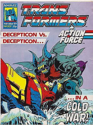 TRANSFORMERS #207 - 1989 - Marvel Comics Group UK