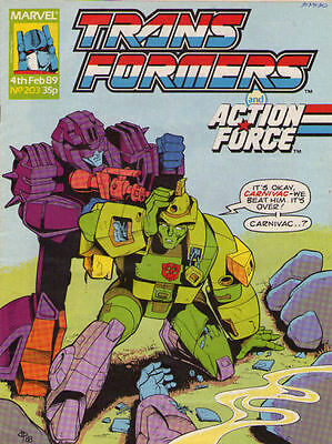 TRANSFORMERS #203 - 1989 - Marvel Comics Group UK