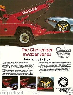 Tow Truck Brochure - Challenger - Invader I-500 SW TW - Wheel Lift (TB554)