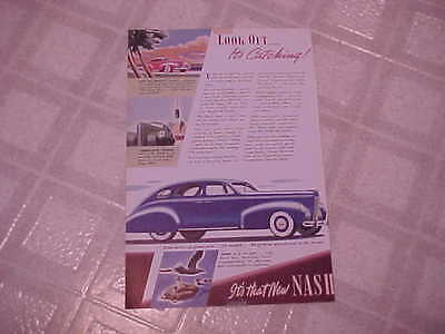 Vintage 1939  Magazine Car Ad ~ Nash  ~ 6⅜ x 10-inches