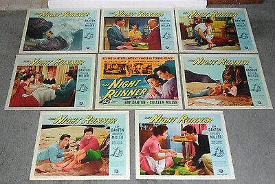 THE NIGHT RUNNER lobby card set RAY DANTON/COLLEEN MILLER 11x14 movie posters