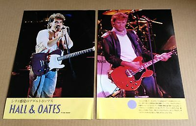 1984 Hall & Oates 2pg 2 photo JAPAN mag spread / clippings cuttings