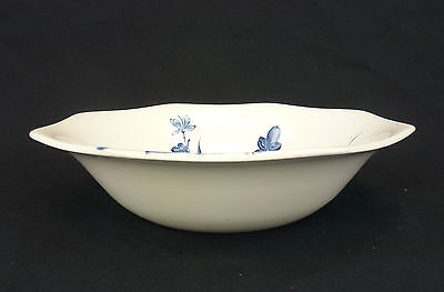 Mek54 Meakin J and G Round Vegetable Serving Bowl Blue Flowers Octagon Liberty