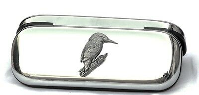 Kingfisher Branch Glasses Spectacle Case Countryside Gift FREE ENGRAVING