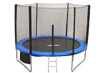 8FT Trampoline With Safety Net Enclosure Ladder Rain Cover Shoe Bag Kids Adults