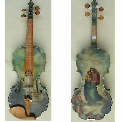 Painting 4/4Violin Perfect Collection Art Madonna