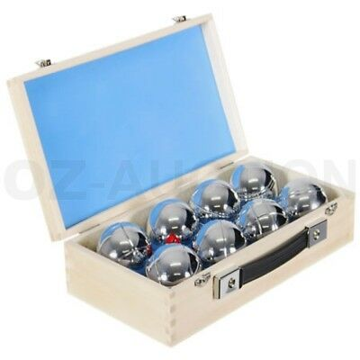 Deluxe Boule 8 Alloy Ball Set in Wooden Case Boules Bocce Petanque Jack Regent