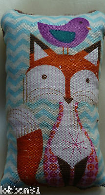Fox Pin Cushion 100% Cotton Brown Velvet Back in Organza Gift Bag Brand New