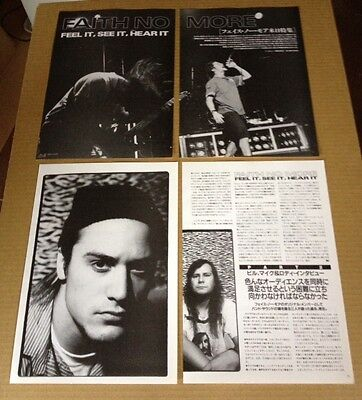 1991 Faith No More 7pg 4 photo JAPAN mag article / clippings cutting