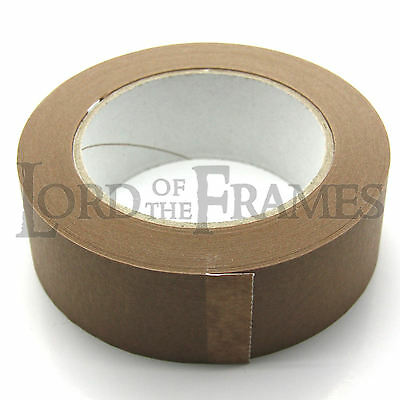 38mm x 50m Brown Paper Self Adhesive Backing Tape Picture Frame Framing FREE p+p