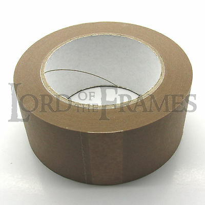 50mm x 50m Brown Paper Self Adhesive Backing Tape Picture Frame Framing FREE p+p