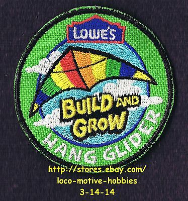 LMH PATCH Badge  2009 HANG GLIDER Kite  LOWES Build Grow Project Series Kid's