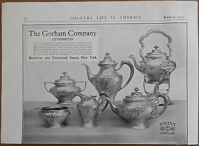 1903 vintage AD The Gorham Company New York silversmiths