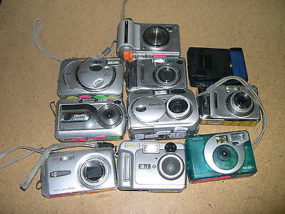 Lot Of 10 AS-IS Digital Parts Cameras Non-Working FujiFilm Insignia VuPoint #C-1