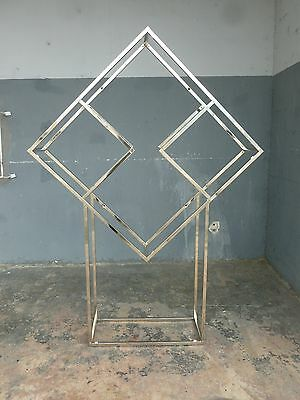 Fab 1970's Chrome Cubed Geometric Etagere Manner Of Milo Baughman