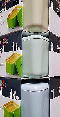 Zeal Insulated Cooler Melamine Butter Dish Box Green Red White Soft Blue Cream
